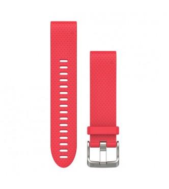 GARMIN Correas de reloj QuickFit™ 20, silicona rosa azalea