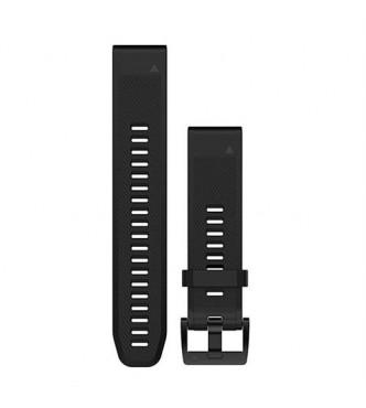 GARMIN QuickFit® 22 Watch Bands, Black/Silver Silicone