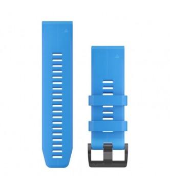 GARMIN QuickFit® 26 Watch Bands, Cyan Blue Silicone 010-12741-02