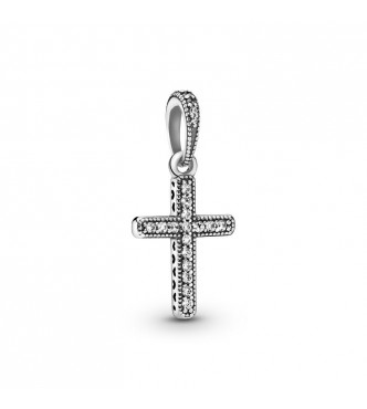 Cross silver pendant with clear cubic zirconia 397571CZ