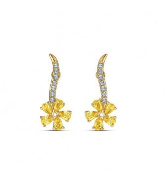 SWAROVSKI BOTANICAL PENDIENTES DE PRESION FLOWER C 5535796 PIERCED EARRINGS