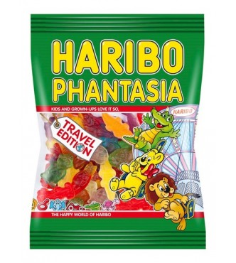 Haribo Phantasia, fruit and cola flavour gums with foam