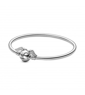 Harry Potter sterling silver bangle with Golden Snitch clasp 598619C00