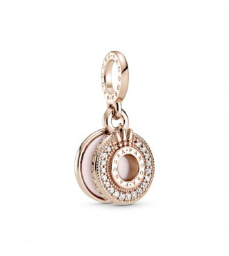 Pandora Crown O Pandora Rose dangle with clear cubic zirconia and pink enamel 789055C01