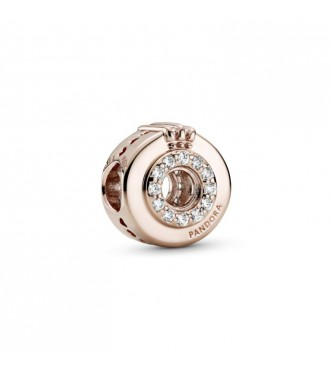 Pandora Crown O Pandora Rose charm with clear cubic zirconia 789059C01