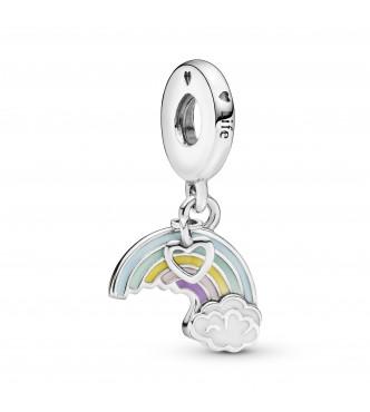 Charm colgante en plata de ley Arco Iris del Amor
