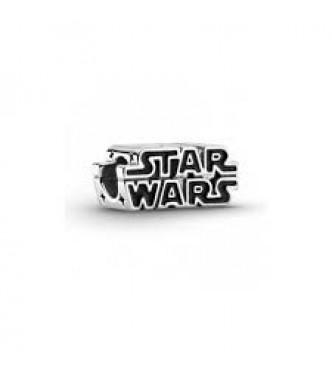 PANDORA Charm en plata de ley Logo Star Wars en 3D Pandora Star Wars logo sterling silver