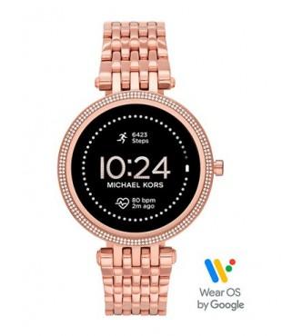 M Kors Display Watch MKT5128 Mujer Oro rosa Acero inoxidable Redonda 43mm 5ATM movimiento